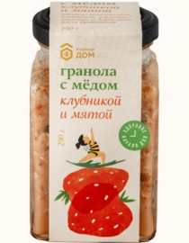 GRANOLA  MEDOVIY DOM  WITH HONEY STRAWBERRY AND MINT