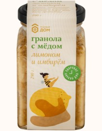 GRANOLA  MEDOVIY DOM  WITH HONEY LEMON AND GINGER