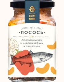 SALMON  MEDOVIY DOM FERMA  ATLANTIC WITH SWEET PEPPER AND ORANGE